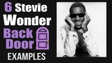6 Stevie Wonder Back Door progression II-7 V7 examples tutorial