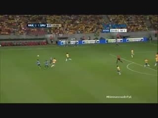 Brasil 2 Uruguay 2  GOL SUAREZ VOLVIO Y ANOTO  26.3.2016 Eliminatorias Rusia 2018.mp4