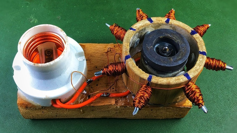 100 of Electronics Free Energy Generator From DC Motor , New Science Project 2019