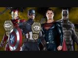 Капитан Америка и Железный Человек (с) против Бэтмена и Супермена
