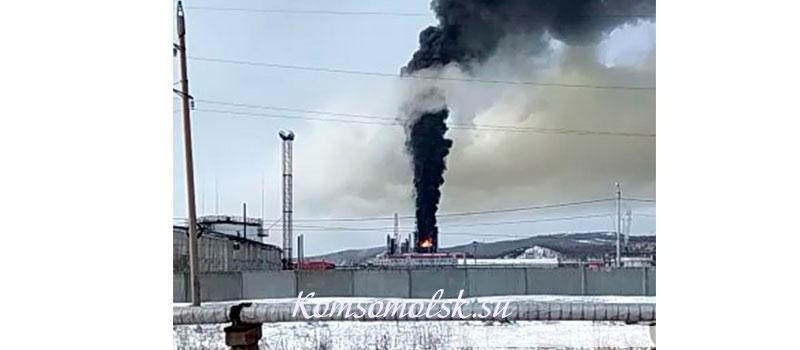 Пожар на КНПЗ