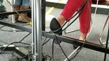 Math teacher shoeplay