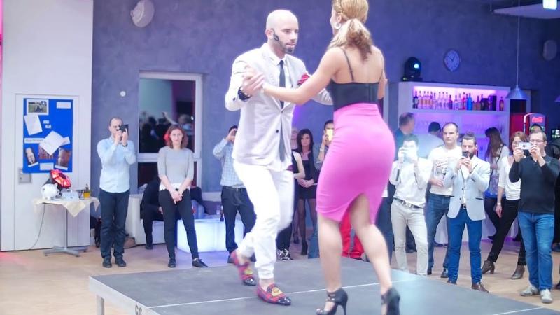 Jorge Burgos ( Ataca) and Tanja Kensinger (Alemana)!! Мастер - класс -.Bachata
