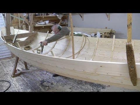 ПОСТРОЙКА ШЛЮПКИ Amazing Techniques Smart Carpenters Extremely High Skills Building Wooden Boat Easy Woodworking