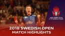 Lin Gaoyuan vs Mattias Falck I 2018 ITTF Swedish Open Highlights (R16)