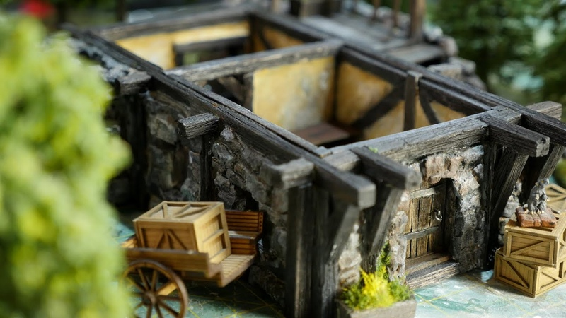 🍻Build Yourself an EPIC Medieval Tabletop Tavern 🍻 D D Pathfinder Terrain *First level*