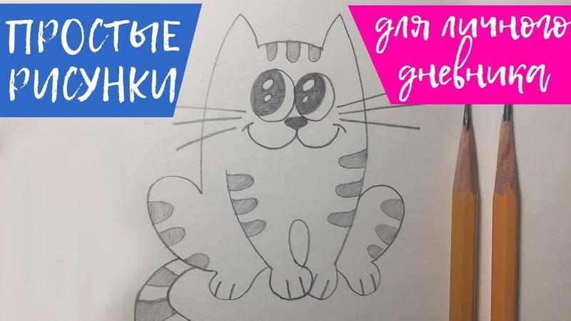Как нарисовать КОТИКА | Простые рисунки для срисовки How to draw a CAT | Simple drawings for typical