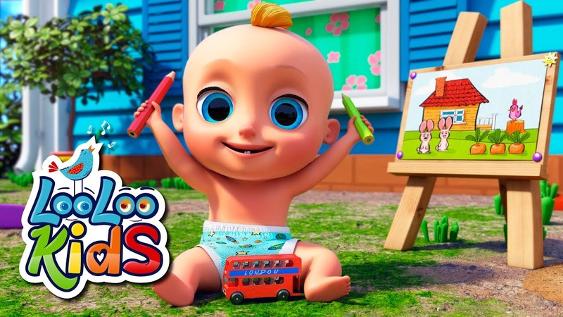 Drawing Song - THE BEST Songs for Children | LooLoo Kids