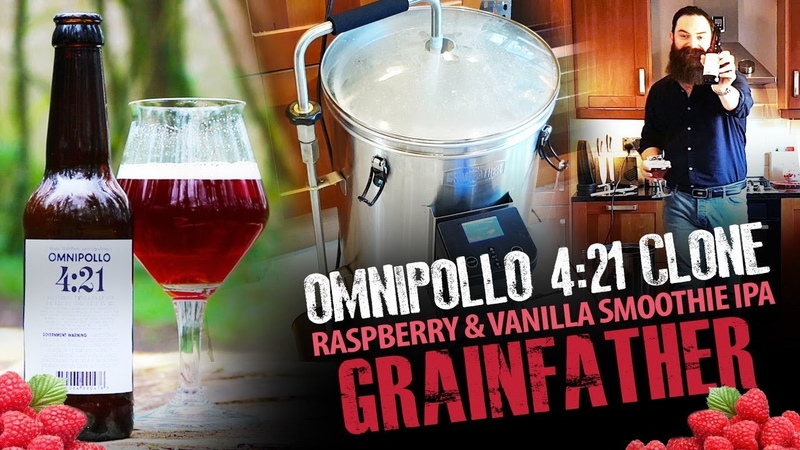 Omnipollo 4:21 Grainfather Clone (Raspberry Vanilla Smoothie IPA)