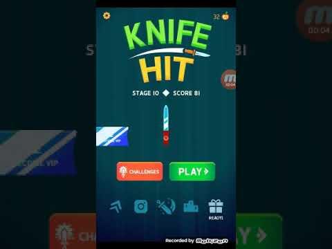 Knife Hit начало,играем и проходимости игру 1