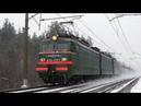 Снежные шлейфы за поездами в снегопад на платформе Заполицы Московской жд и в её окрестностях - 1.