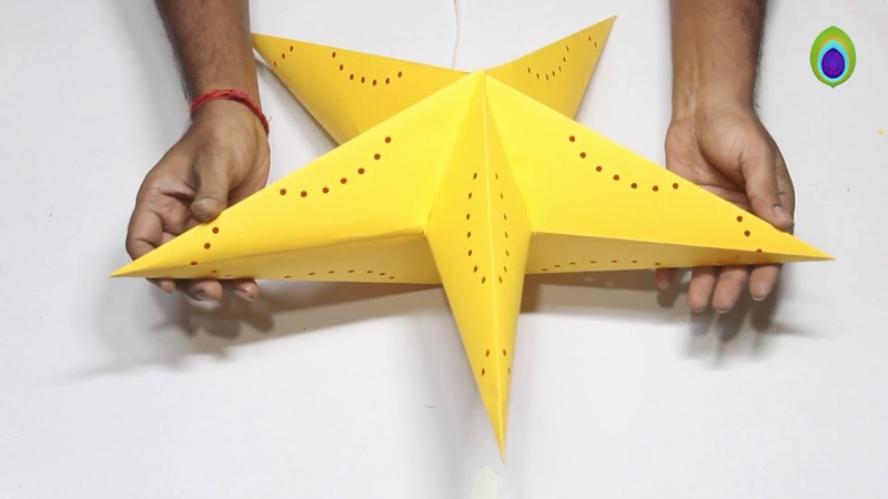 DIY How to make Star Lantern Kandil For Diwali Christmas Decoration