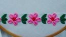 Hand Embroidery Floral Border design for Dress | sewing hacks | simple flower design