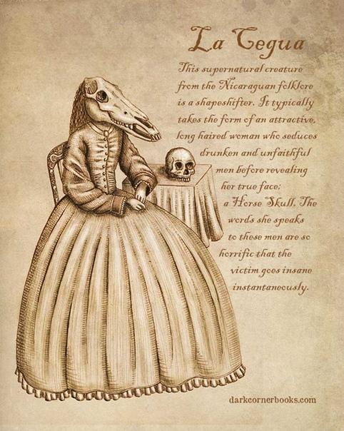 Малоизвестные мифические существа от Бруно Сантоса На протяжении веков люди рассказывают истории о монстрах, животных и других причудливых сверхъестественных существах. В древние времена люди