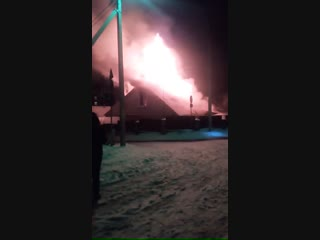 Ошмяны горел дом.