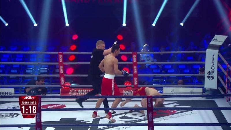 Шер Мамазулунов нокаутирует соперника