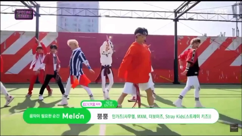 180617 SBS Inkigayo World Cup Special: Momoland Bboom Bboom Cover (The Boys,MXM,Samuel Stray Kids)