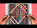 Abstract Acrylic Painting Pouring Swipe Technique