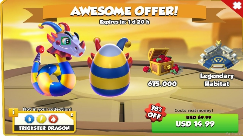 Awesome Offer! Trickster Dragon (78 off)But Costs real Money - Dragon Mania Legends | Part 1238 HD