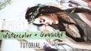 Loreley | Watercolor Gouache Tutorial