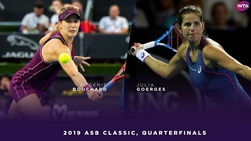 Eugenie Bouchard vs. Julia Goerges   2019 ASB Classic Quarterfinal   WTA Highlights
