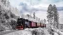 Картинка зима. Поезд, лес, зима.