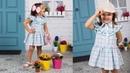 Vestido de cuadros camisero REVISTA PATRONES INFANTILES Nº 9