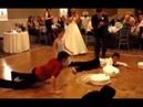 De caídas de bodas, divertido - Accidente divertido en la boda
