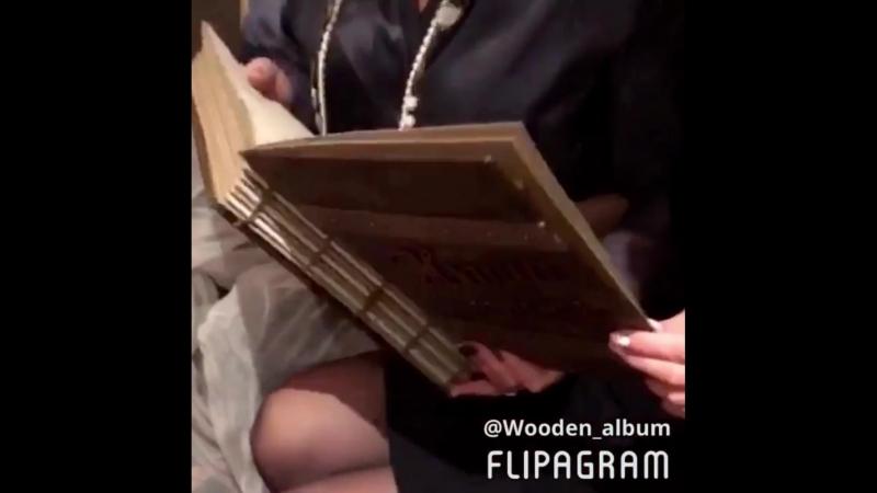 Wooden album Деревянный фотоальбом Наша семья