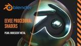 How to make procedural iridescent metallic pearl shaders in Blender 2 8 EEVEE