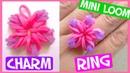 Rainbow Flower Charm Ring with Mini Loom SUPER EASY