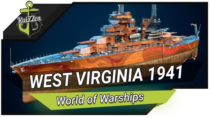 Линкор West Virginia 1941 Не первый с большими пушками Обзор