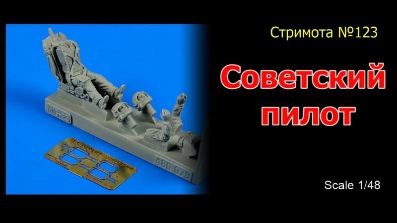 Роспись миниатюры Советский пилот масштаб 1/48 Стримота №123