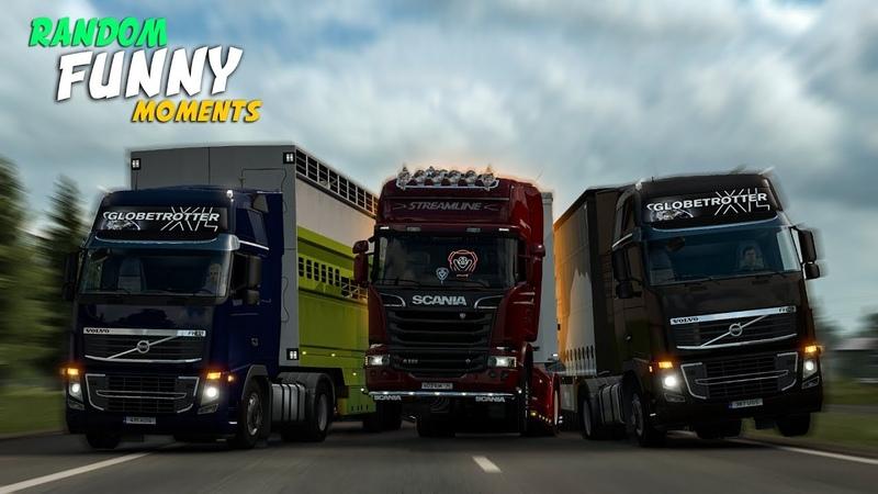 Euro Truck Simulator 2 Multiplayer Funny Moments Crash Compilation 111 (ETS2MP)