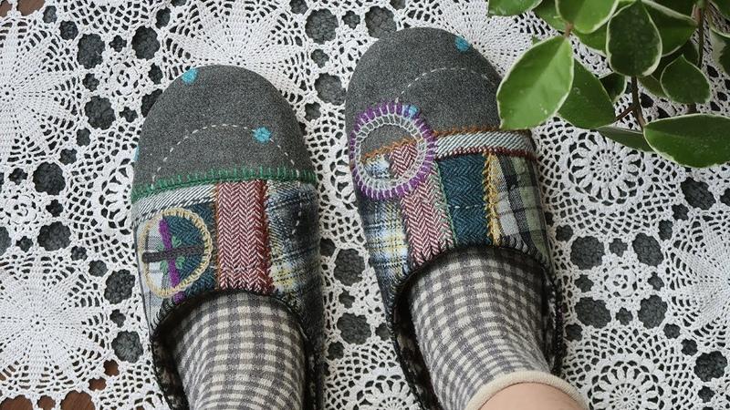 퀼트 룸슈즈 만들기 │ Hand Patchwork Quilt Room Slippers │ How To DIY Craft Tutorial