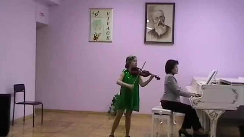 Шер.Бабочки. исполняет Юлиана Браунгоф (преп.Матис О.А.) кцм. Фаткулина Н.Ш.
