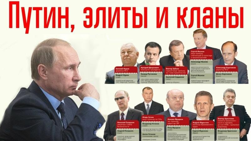 Владимир Путин и элиты государства, как они взаимодействуют между собой.