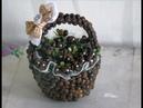 Корзинка из кофейных зерен: МК\ DIY basket of coffee beans
