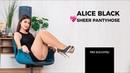 ALICE BLACK LOVES SHEER PANTYHOSE - PREVIEW 2019-03(2)