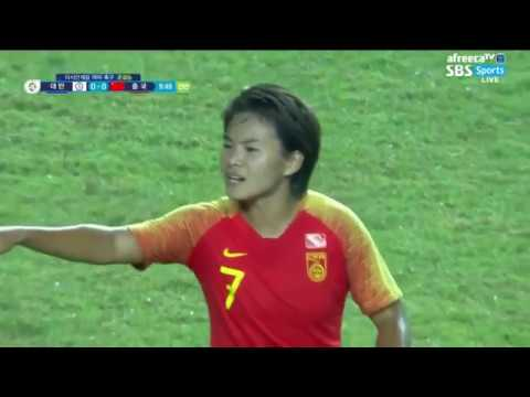 SBS Jakarta Palembang Asian Games Women Soccer Taiwan VS China자카르타 팔렘방 아시안게임 여자 축구 대만 vs 중국