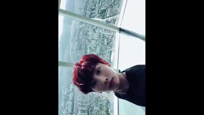 [호영] - 호영이에요_ 어제 저희 첫 뮤직비디오 다들 보셨나요 이건 촬영날 아침에 118층까지 올라간 게 신기해서 자랑하고싶어서 찍었던 영상이에요! 추석연휴 맛.mp4