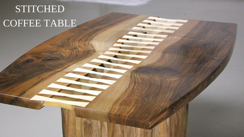 Stitched Coffee Table Making Walnut Coffee Table w Fluted Base