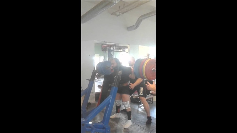 Zahir Khudayarov squat training 350 kg x2