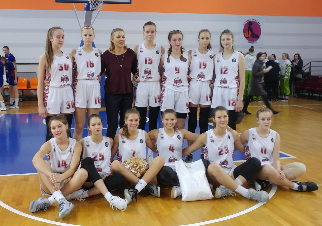 МБА-Академия заняла первое место в группе на турнире EYBL среди девушек 2004 года рождения