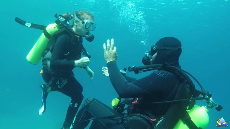 Claire plongée Dauphin Eilat 2018