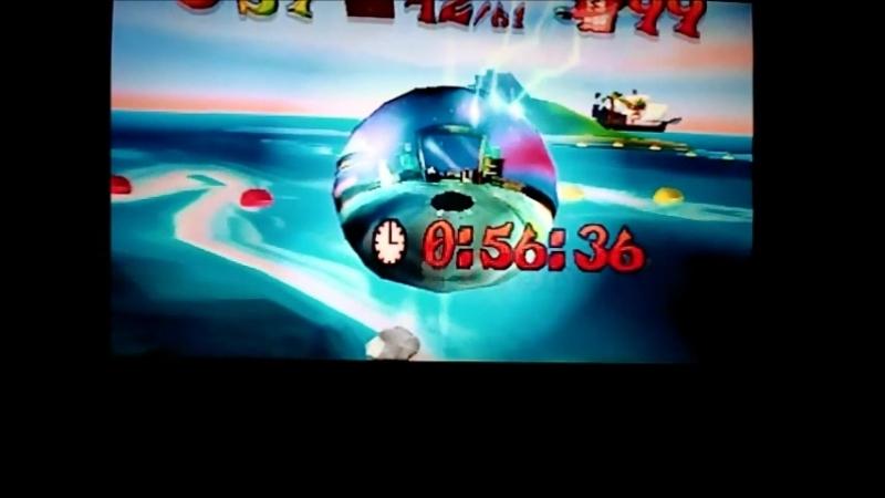 Crash Bandicoot 3:Warped(NTSC-J).Tell No Tales.Time Trial.56:36.Пошла жара)) Иду к 55:хх.