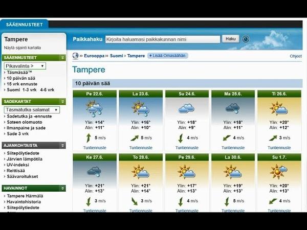 Финский с нуля: изучение погоды