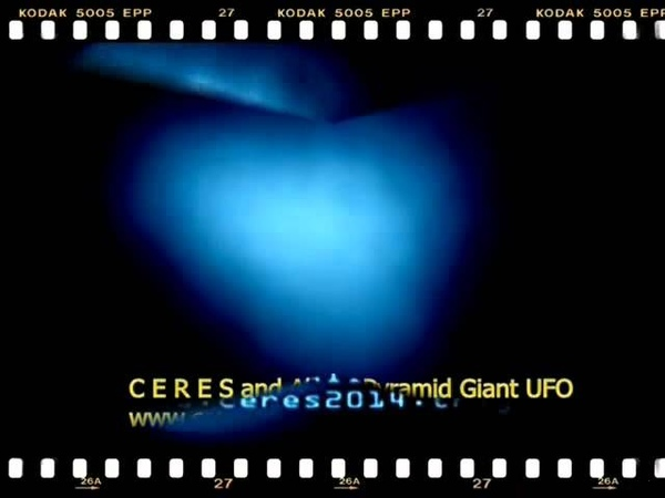 C E R E S a cizinci pyramida obří UFO-speciální barevné (modrá) 3D