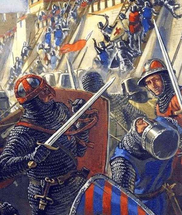 Рыцари у стен Дамиетты