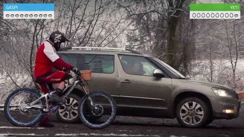 Skoda Yeti vs. Mountain Biker